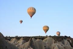 Passeio do balão de ar quente, Cappadocia Fotos de Stock Royalty Free