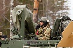 Passeio do Dragoon do exército dos EUA Fotografia de Stock Royalty Free