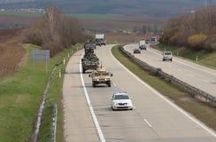 Passeio do Dragoon - o trem do exército dos EUA conduz com República Checa fotografia de stock
