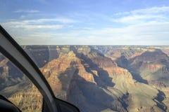 Passeio do helicóptero na borda sul em Grand Canyon Imagem de Stock