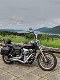 Passeio do lago motorcycle fotos de stock