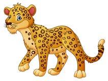 Passeio do leopardo dos desenhos animados ilustração do vetor