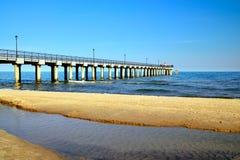 Passeio do mar Cidade-recurso Pionersky, região de Kaliningrad, Rússia imagem de stock royalty free