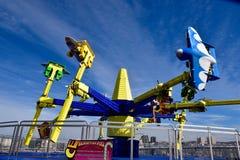 Passeio do parque de diversões no cais da praia de Brigghton Imagens de Stock