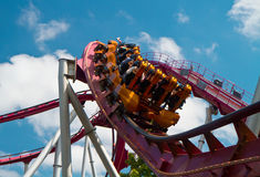 Passeio do roller coaster Fotografia de Stock Royalty Free