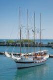 Passeio do Sailboat no cais da marinha de Chicago Fotos de Stock Royalty Free