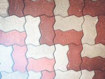 Passeio do teste padrão do bloco de cimento na maneira Imagens de Stock Royalty Free