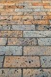 Passeio do tijolo Fotografia de Stock