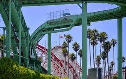 Passeio e roller coaster da água fotos de stock royalty free