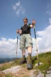 Passeio em a montanha da montanha Imagem de Stock