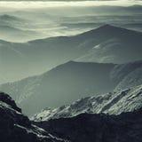 Passeio em a montanha da montanha Fotografia de Stock