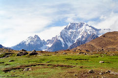 Passeio em a montanha de Ausangate, Peru fotos de stock