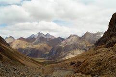 Passeio em a montanha de Huayhuash, Peru fotos de stock