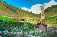 Passeio em a montanha de Mestia-Ushguli, Svaneti Geórgia Imagens de Stock