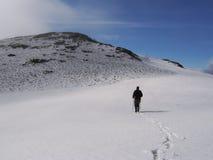 Passeio em a montanha nas montanhas Imagens de Stock