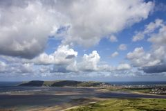 Passeio em torno de Conwy e de sua montanha Fotografia de Stock Royalty Free