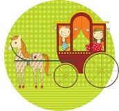 Passeio em um transporte ilustração royalty free