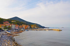 Passeio em uma das cidades da ilha da Ilha de Elba Fotografia de Stock Royalty Free