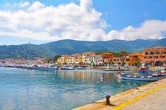Passeio em uma das cidades da ilha da Ilha de Elba Fotografia de Stock