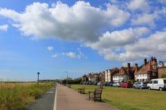 Passeio Kent England da praia de Walmer imagem de stock