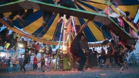 Passeio manual do banco do círculo no fanfair de Jogjakarta filme