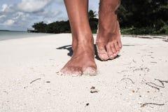 Passeio na areia Fotografia de Stock