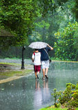 Passeio na chuva Fotografia de Stock