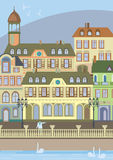 Passeio na cidade velha Europa Imagens de Stock Royalty Free