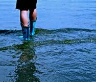 Passeio na maré baixa Imagens de Stock