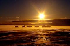 Passeio na montanha antártico Imagem de Stock