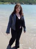 Passeio na praia Fotos de Stock Royalty Free