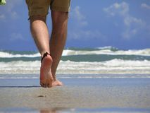 Passeio na praia Foto de Stock