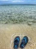Passeio na praia Fotos de Stock