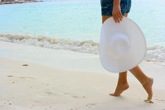 Passeio na praia Imagem de Stock