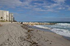Passeio na praia de florida Imagens de Stock