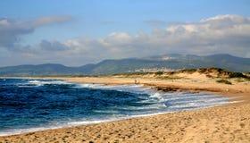 Passeio na praia Sardinia Fotografia de Stock