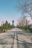 Passeio no bulevar de Baku foto de stock