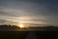Passeio no por do sol Foto de Stock Royalty Free