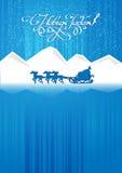 Passeios de Ded Moroz em um trenó Fotografia de Stock