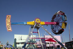Passeios do divertimento na feira do estado de Texas fotografia de stock royalty free
