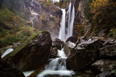 Passeirer waterfall. Near St. Martin, South Tyrol Stock Images