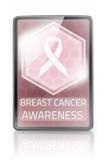 Passen Sie Brustkrebs auf Stockfoto