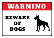 Passen Sie von den Hunden unterzeichnen auf vektor abbildung