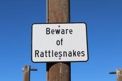 Passen Sie von den Klapperschlangen auf Stockfoto
