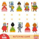 Passend spel Vind de voorzijde en de rug van de karakters stock illustratie