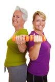Passende ältere Frauen des Active Stockfotografie