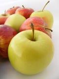 Passende Apfelbilder auf der Verpackung Stockfotografie