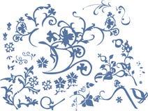 Passende Blumen des Musters Stockfoto