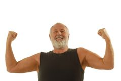 Passender älterer Mann Lizenzfreies Stockbild