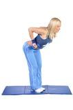 Passender junger weiblicher pilates Ausbilder Lizenzfreies Stockbild